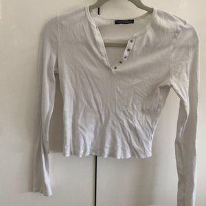 Brandy Melville Ribbed Long Sleeve Top